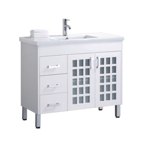 Halifax 1000mm White Gloss Floor Standing Cabinet & Basin